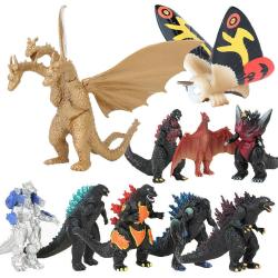 10ST Godzilla 2nd Generation Model Kid Figur Dekorationsgåva Godzilla 10pcs
