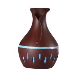 300ML Luftdiffusor Aroma Oil Luftfuktare 7 Färg Diffusor Purifier Deep wood grain