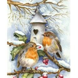 3D Diamond Drawing Christmas Snow View Decoration Wall Painting C 30*40CM