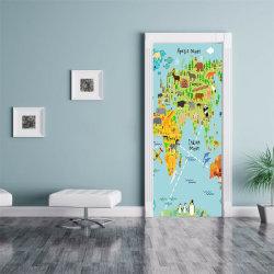 3D Door Wall Sticker Art Stickers Murals Animal Home Decor PVC 38.5*200cm