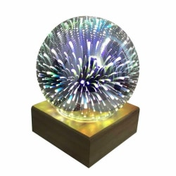 3D Glass Cover Magic Lamp LED Home Room Decoration Gifts Fireworks