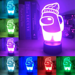 3D Illusion LED Night Light Changing Colour USB Touch Lamp Party