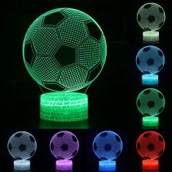 3D Night Light Lamp LED Football Soccer Touch Light Boys Gifts
