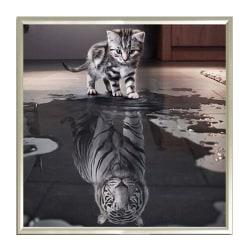 5D Animal Cat Diamond Painting Embroidery Home Art Decor