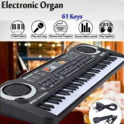 61keys Digital Musical Electronic Keyboard Mini Piano With Mic
