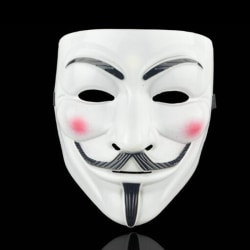 Anonymous Mask Cosplay V Vendetta Mask Guy Masquerade White
