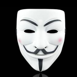 Anonymous Mask Cosplay V Vendetta Mask Guy Masquerade White Thicken