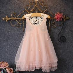 Baby Girls Kids Lace Tutu Gown Princess Party Dress pink 110cm