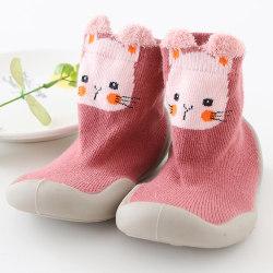 Baby Kids Girl Boy Animal Printed Training Middle Soft Socks