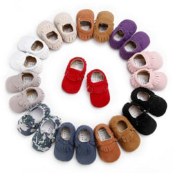 Baby Tassel Soft Sole Leather Boots Infant camouflage 13