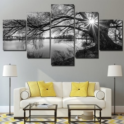 Black and White Tree Landscape Wall Home Art Decoration Painting