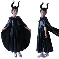 Black Witch Costume Kid Cosplay Masquerade Halloween Party M
