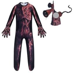 Boy Girls Siren Head Cosplay Halloween Costume Jumpsuit +Mask Siren Head Cosplay Jumpsuit+Mask 7-8 Years