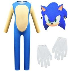 Boys Girls Kid Sonic The Hedgehog Cosplay Costume Fancy Dress Blue 9-10 Years