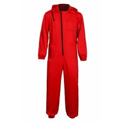 Carnival Costume Jumpsuit Money Heist House Heist red M