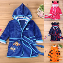 Cartoon Boys Girls Robe Sleepwear blue 90 cm
