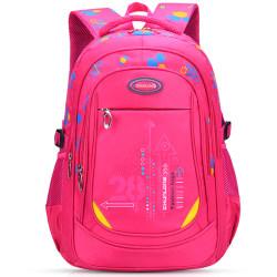 Child's Shoulderbag Waterproof Light Backpack Rose Red