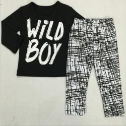 Children 2pcs Kids Clothes Set Toddler Top+Pants Set long sleeve 100cm