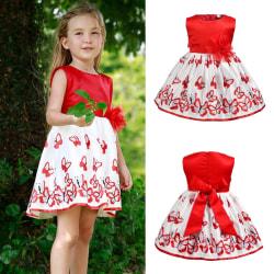 Children Girl Summer Fairy Bow Princess Dress red