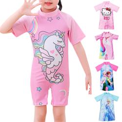 Barn barnflickor tecknad tryck baddräkt sport badkläder hello kitty KTXL
