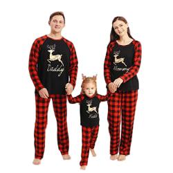 Christmas Xmas Kids Womens Mens Long Sleeve Sleepwear Nightwear kid 160 cm
