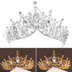 Crown Girls Wedding Hair Accessories Gems Bridal Tiara Bride Silver