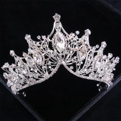 Crown Girls Wedding Hair Accessories Gems Bridal Tiara Bride