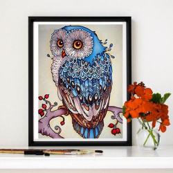 DIY 5D Owl Diamond Painting Kits Arts Home Decorate 30 * 40