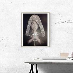 DIY 5D Praying Woman Diamond Painting Kits Arts Home Decor