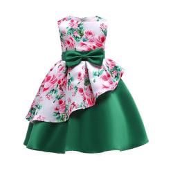 Dresses Girl Sleeveless Princess Rose Pattern Tutu Dress Green 110 cm