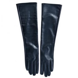 Fashion All-match Autumn Popular Long Leather Gloves black 50