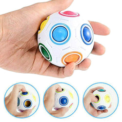 Fidget Ball Rainbow Magic Puzzle Pusselboll Cube Toy Kids Gift