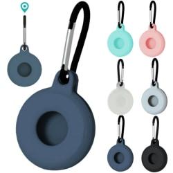 För Apple AirTag Silicone Loop Holder Nyckelring Air Tag Nyckelring Blue