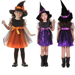 Girl's Halloween Witch Dress Up Hat purple 140 cm