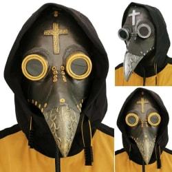 Halloween Costume Props Plague Doctor Bird Mask Long Nose Beak  Silver