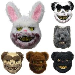 Halloween Mask Bloody Killer Rabbit Bear Mask Rabbit