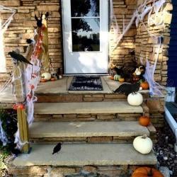 Halloween Party Decoration Simulation Crow