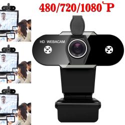 HD Webcam Camera PC Desktop Laptop Computer Office Work USB 2.0 1080p