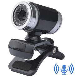HD Webcams Black Cameras 640*480P Fit PC Desktops Computers USB