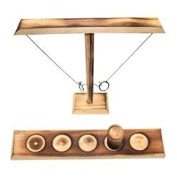 Hook and Ring Toss Battle Game Table Top Ring Toss Vuxna Spel Black 30.0*10.0*4.0