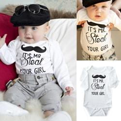 Kid Children Set Long sleeve Cute Romper white 70cm