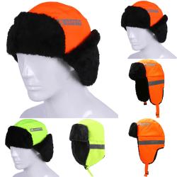 Kids Adults High Visable Reflectives Warm Hat Visibility Hat orange