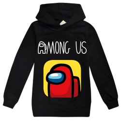 Kids Boys Girls Cartoon Among us Hoodies Cozy Cute Black 7 - 8 Years
