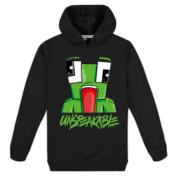 Kids Boys Girls UNSPEAKABLE Cartoon Hoodies Cozy Cute Black 11 - 12 Years