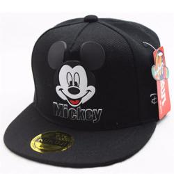 Kids Boy Girl Mickey Mouse Snapback Baseball Cap Sports Black