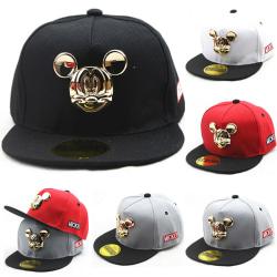 Kids Boy Gril Mickey Mouse Baseball Cap Sports Hip Hop Red