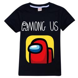 Kids Boys Girls Among Us T-shirt Impostor Crew Gaming Xmas Tops Black 5-6 Years