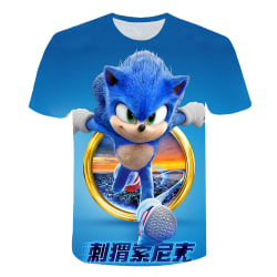 Kids Boys Girls Sonic The Hedgehog 3D T-shirt Game Gift Tee Tops Blue 7-8 Years