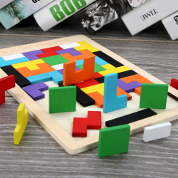 Wooden Toys Jigsaw Puzzle Game Educational Kids Fuuny Toys