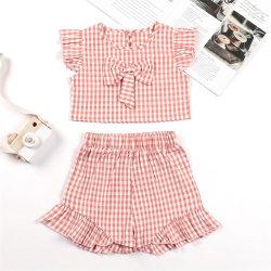 Barnflickor med knytärm i två delar Kostymer Sommarshorts Pink 4-5Years